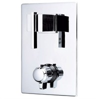 Danze® Sirius™ Two Handle Thermostatic Shower Trim Kit - Chrome