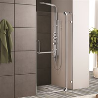 "VIGO 36-inch Frameless Shower Door 3/8"" Clear Glass VG6042-36-Frameless"