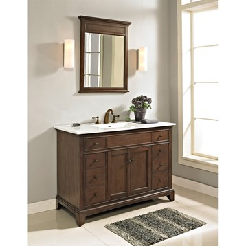 "Fairmont Designs 48"" Smithfield Vanity with Integrated Sink Option, Mink 1503-V48- by Fairmont Designs"