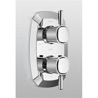 TOTO Guinevere™ Thermostatic Mixing Valve Trim w/ Single Lever Handle Volume Control TS970C1#CP