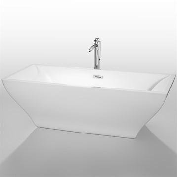 """Maryam 71"""" Soaking Bathtub by Wyndham Collection, White WC-BTK1518-71 by Wyndham Collection®"""