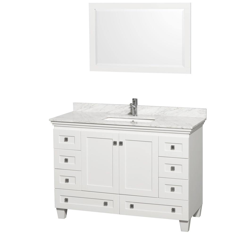 Acclaim 48 in. Single Bathroom Vanity by Wyndham Collection - Whitenohtin Sale $999.00 SKU: WC-CG8000-48-SGL-VAN-WHT- :