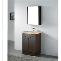 "Madeli Savona 24"" Bathroom Vanity with Integrated Basin - Walnut Savona-24-WA"