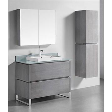 "Madeli Metro 42"" Bathroom Vanity for Glass Counter and Porcelain Basin, Ash Grey B600-42-001-AG-GLASS by Madeli"