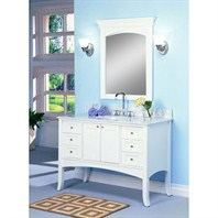 "Fairmont Designs 48"" Lifestyle Collection Shaker II Vanity - Polar White 185-48"