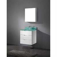 "Madeli Bolano 24"" Bathroom Vanity with Integrated Basin - Glossy White Bolano-24-GW"