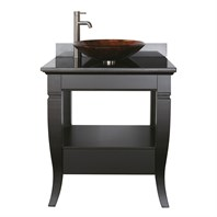 "Avanity Milano 31"" Bathroom Vanity Set - Black - Overmount Sink MILANO-VS30-BK-VE"