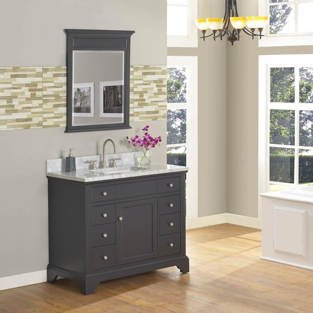 "Fairmont Designs Framingham 42"" Vanity - Obsidiannohtin Sale $1335.00 SKU: 1508-V42 :"