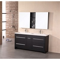 "Design Element Designer's Pick 63"" Double Bathroom Vanity - Espresso DEC079A"