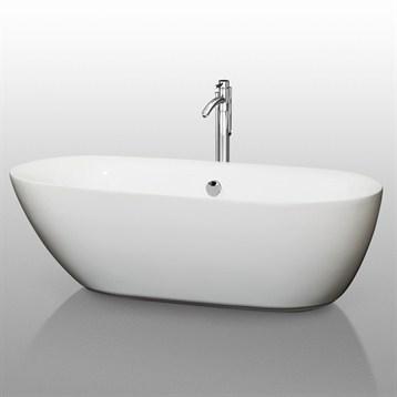 """Melissa 71"""" Soaking Bathtub by Wyndham Collection WC-BT1000-71 by Wyndham Collection®"""