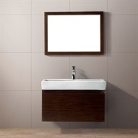 Vigo 30-inch Agalia Single Bathroom Vanity with Mirror - Wenge VG09018118K