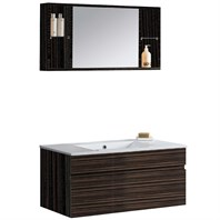 VIGO 35-inch Single Bathroom Vanity with Medicine Cabinet - Ebony VG09008109K