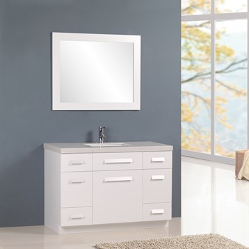 "Design Element Moscony 48"" Single Sink Vanity Set, White J48-DS-W by Design Element"