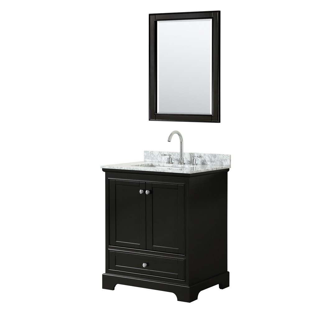"Deborah 30"" Single Bathroom Vanity by Wyndham Collection - Dark Espresso WC-2020-30-SGL-VAN-DES"