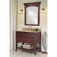 "Fairmont Designs Shaker 36"" Open Shelf Vanity - Dark Cherry 125-VH36"