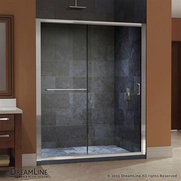 "Bath Authority DreamLine Infinity-Z Frameless Sliding Shower Door, 56 to 60"" SHDR-0960720 by Bath Authority DreamLine"