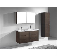 "Madeli Bolano 48"" Double Bathroom Vanity for X-Stone Top - Walnut B100-48D-002-WA-XSTONE"