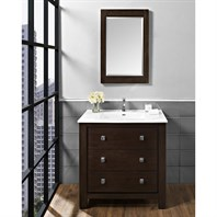 "Fairmont Designs Uptown 36"" Vanity for Integrated Sinktop - Espresso 1519-V36-"
