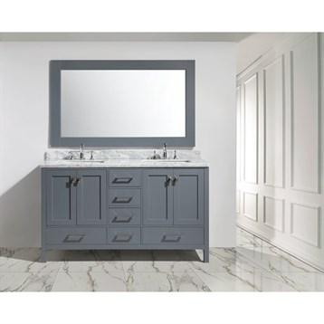 """Design Element London 60"""" Double Sink Vanity Set, Gray DEC082A-G by Design Element"""