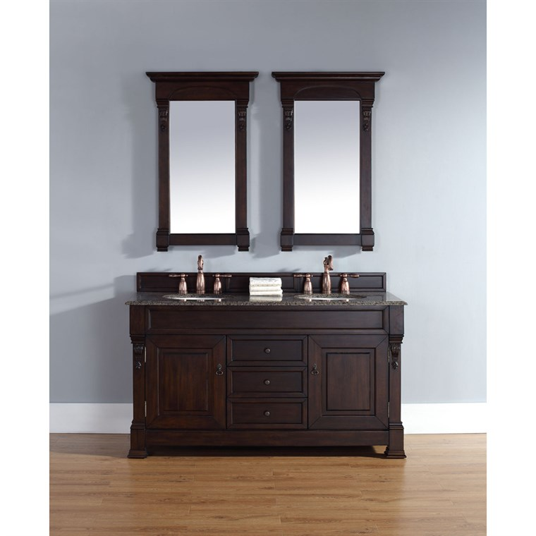 "James Martin 60"" Brookfield Double Cabinet Vanity - Burnished Mahogany 147-114-5661"