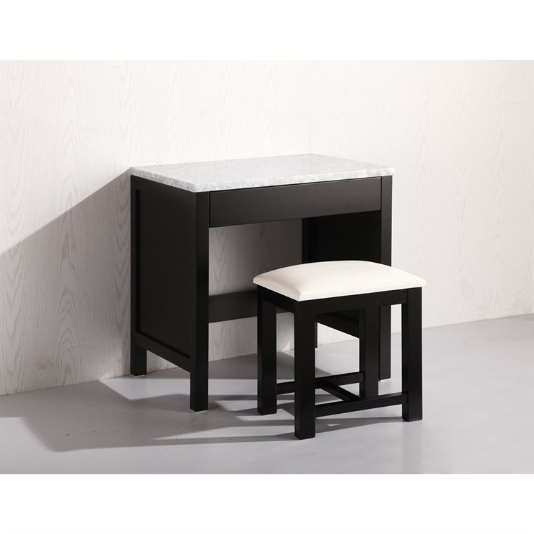 Design Element Make-up Table with Seat - Espresso MUT