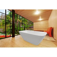 Aquatica Arabella-Wht Freestanding Solid Surface Bathtub - Matte White Aquatica Arab-Wht