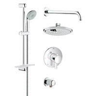 Grohe Europlus Grohflex Bath and Shower Set - Starlight Chrome GRO 35051000