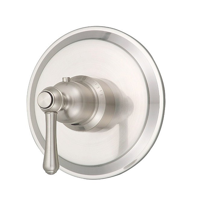 "Danze® Opulence™ Single Handle 3/4"" Thermostatic Shower Valve Trim Kit - Brushed Nickel"