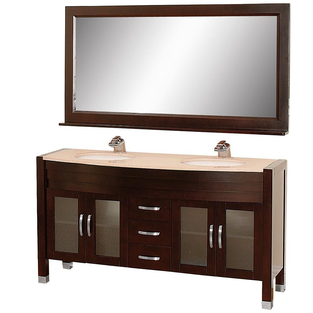 Daytona 63 Double Bathroom Vanity Set By Wyndham Collection Espresso W Drawers Free Shipping Modern