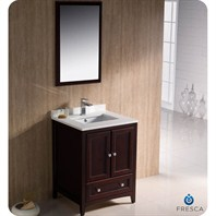 "Fresca Oxford 24"" Traditional Bathroom Vanity - Mahogany FVN2024MH"