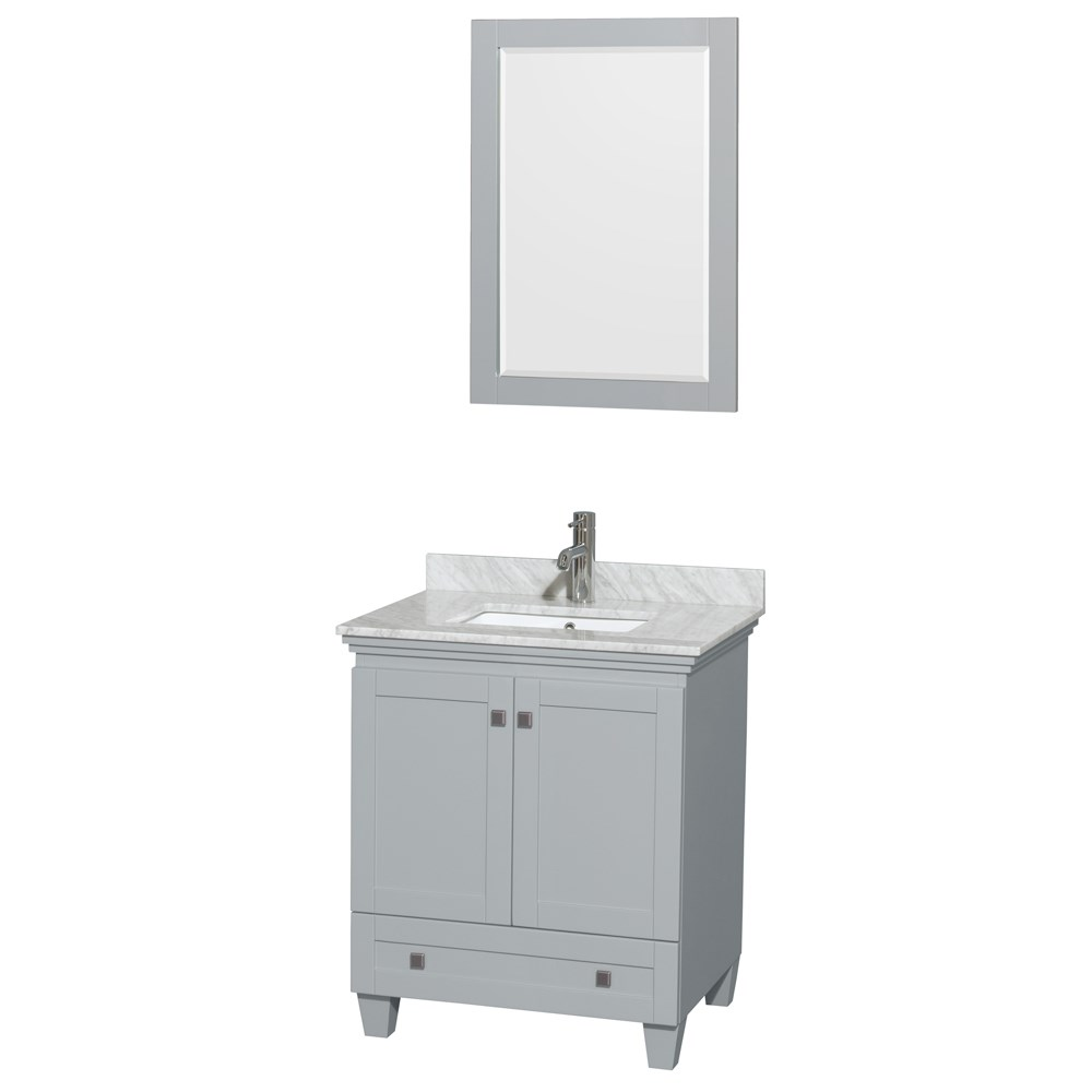 Acclaim 30 inch Single Bathroom Vanity by Wyndham Collection Oyster Gray