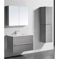 "Madeli Urban 36"" Bathroom Vanity for Quartzstone Top - Ash Grey B300-36-002-AG-QUARTZ"