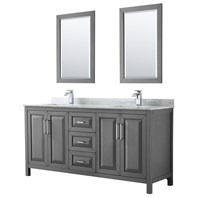 Daria 72u0026quot; Double Bathroom Vanity By Wyndham Collection   Dark Gray  WC 2525