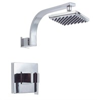 "Danze® Sirius™ Single Handle Shower Only Faucet Trim Kit with 6"" Showerhead - Chrome"