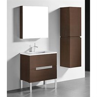 "Madeli Soho 30"" Bathroom Vanity for Quartzstone Top - Walnut B400-30-001-WA-QUARTZ"