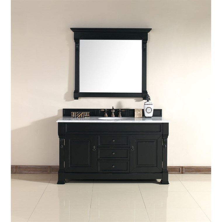 "James Martin 60"" Brookfield Single Cabinet Vanity - Antique Black 147-114-5331"