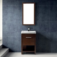Vigo 21-inch Adonia Single Bathroom Vanity with Mirror - Wenge - Hinge Left VG09027118LHK