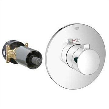 Grohe GrohFlex Cosmopolitan Custom Shower Thermostatic Trim with Control Module GRO 19879 by GROHE