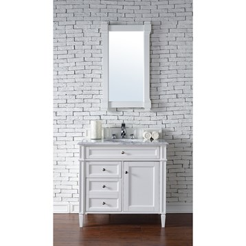 James Martin Brittany Single Vanity Cottage White Free - Modern bathroom vanities without sinks