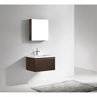 "Madeli Venasca 30"" Bathroom Vanity with Quartzstone Top - Walnut B991-30-002-WA-QUARTZ"