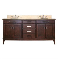 "Avanity Madison 72"" Double Bathroom Vanity - Light Espresso MADISON-72-LE"