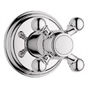 Grohe Geneva Trim Volume Control with Cross Handle - Sterling Infinity Finish