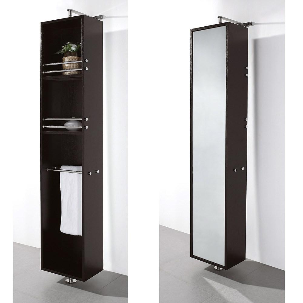 April Rotating Floor Cabinet with Mirror by Wyndham Collection - Espressonohtin Sale $699.00 SKU: WC-V202-ESP :