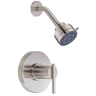 "Danze® Parma™ Single Single Handle Shower Only Faucet Trim Kit with 3"" Three Function Showerhead - Brushed Nickel"