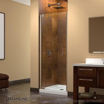 Bath Authority DreamLine Elegance Frameless Pivot Shower Door with ...