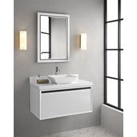 "Fairmont Designs M4 36"" Wall Mount Vanity for Vessel Sink - Glossy White 1525-WV36--"