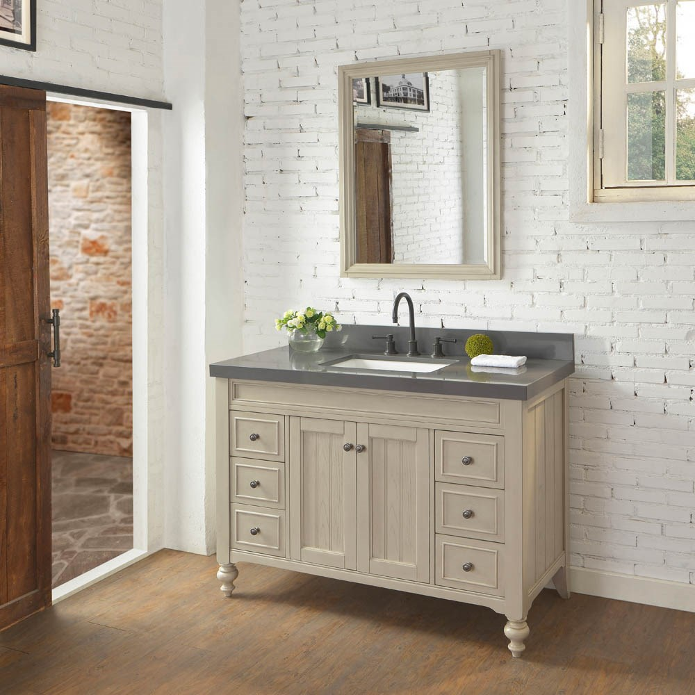 "Fairmont Designs Crosswinds 48"" Vanity - Slate Graynohtin Sale $1575.00 SKU: 1524-V48_ :"