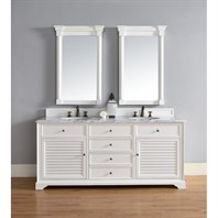 "James Martin 72"" Savannah Double Vanity - Cottage White 238-104-V72-CWH"