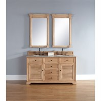"James Martin 60"" Savannah Double Vanity - Natural Oak 238-104-5621"