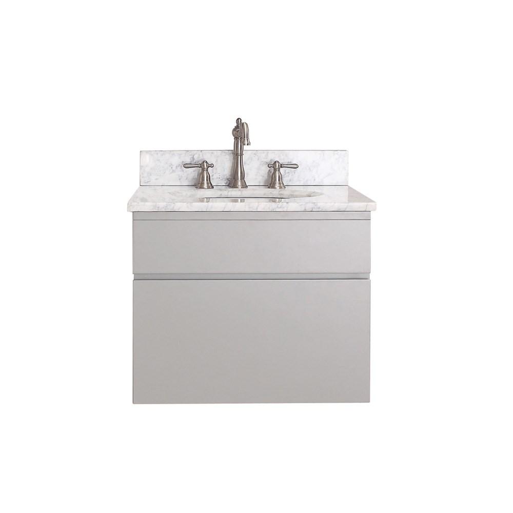"Avanity Tribeca 24"" Wall Mounted Single Bathroom Vanity with Countertop - Chilled Graynohtin Sale $744.60 SKU: TRIBECA-24-CG :"
